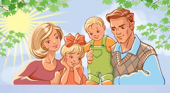 я и моя семья картинки раскраски